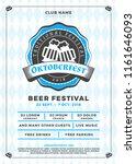 oktoberfest beer festival... | Shutterstock .eps vector #1161646093