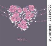vector illustration of floral... | Shutterstock .eps vector #116164720