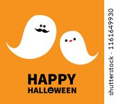 ghost spirit family set with... | Shutterstock . vector #1161649930
