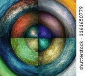 abstract grunge circles... | Shutterstock . vector #1161650779