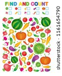 coloring book page. count and...   Shutterstock .eps vector #1161654790