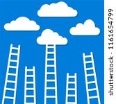 competition concept  clouds... | Shutterstock . vector #1161654799
