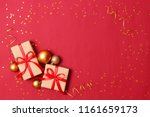 new year's gifts  sweets and... | Shutterstock . vector #1161659173