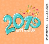 2019 happy new year poster or... | Shutterstock .eps vector #1161662506