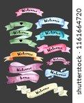watercolor banner ribbons... | Shutterstock . vector #1161664720