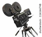 vintage movie camera on white... | Shutterstock . vector #116166748