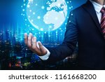 global network connection... | Shutterstock . vector #1161668200