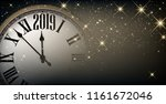 gold shiny 2019 new year... | Shutterstock .eps vector #1161672046