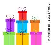 christmas or birthday gift... | Shutterstock . vector #1161673873