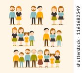 set of happy family ... | Shutterstock .eps vector #1161682549