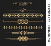 set of art deco dividers and... | Shutterstock .eps vector #1161682666