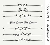 borders and dividers decorative ... | Shutterstock .eps vector #1161682720