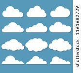 vector illustration of clouds... | Shutterstock .eps vector #1161682729