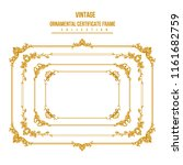 gold frame. set of gorgeous... | Shutterstock .eps vector #1161682759