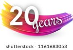 twenty years greeting card with ... | Shutterstock .eps vector #1161683053