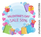 valentines day sale... | Shutterstock . vector #1161683386