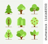 set of abstract stylized trees. ...   Shutterstock .eps vector #1161683533