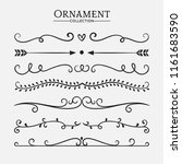 hand drawn vector dividers.... | Shutterstock .eps vector #1161683590