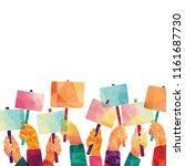 vector illustratioon of hands... | Shutterstock .eps vector #1161687730
