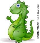 Stock vector green dinosaur 116169253