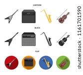 electric guitar  loudspeaker ... | Shutterstock .eps vector #1161701590
