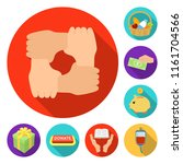 charity and donation flat icons ...   Shutterstock .eps vector #1161704566