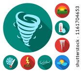 different weather flat icons in ... | Shutterstock .eps vector #1161704653