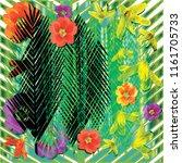 tropical vector illustration...   Shutterstock .eps vector #1161705733