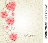 valentine illustration  hearts... | Shutterstock .eps vector #116170669