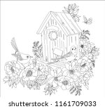 coloring book for adults ... | Shutterstock .eps vector #1161709033