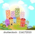 toy town vector | Shutterstock .eps vector #116172010