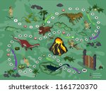 dinosaurs board game for... | Shutterstock .eps vector #1161720370