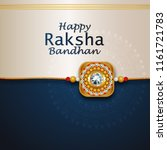 decorated rakhi for indian... | Shutterstock .eps vector #1161721783