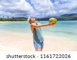 pretty girl enjoys vacation.... | Shutterstock . vector #1161722026