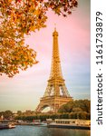 eiffel tower and the river... | Shutterstock . vector #1161733879
