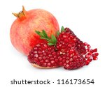sweet pomegranate  on white | Shutterstock . vector #116173654