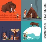 stone age concepts. prehistoric ... | Shutterstock .eps vector #1161737083