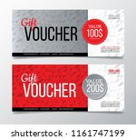 gift voucher with geometric... | Shutterstock .eps vector #1161747199