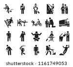 set of 20 icons such as falling ...