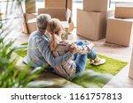 back view of elderly couple... | Shutterstock . vector #1161757813