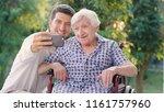 granddaughter  nurse  caring... | Shutterstock . vector #1161757960
