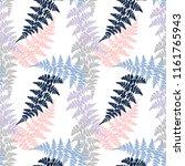 fern frond herbs  tropical... | Shutterstock .eps vector #1161765943