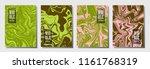 creative journal layouts set.... | Shutterstock .eps vector #1161768319