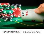 poker player show a pair of... | Shutterstock . vector #1161772723