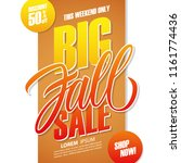 big fall sale special offer... | Shutterstock .eps vector #1161774436