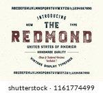 """redmond"". original handmade... | Shutterstock .eps vector #1161774499"