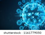 3d illustration abstract viral... | Shutterstock . vector #1161779050