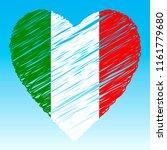 italy flag  heart shape  grunge ... | Shutterstock .eps vector #1161779680