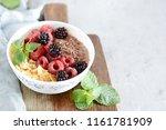 sunday breakfast. oatmeal...   Shutterstock . vector #1161781909