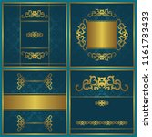 set of cards with vintage... | Shutterstock . vector #1161783433